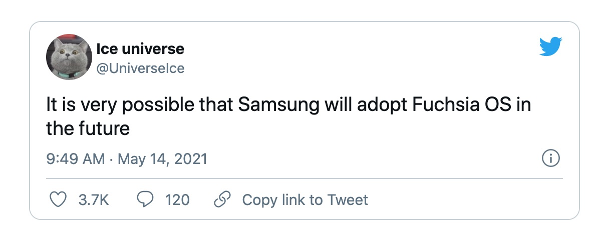 Samsung ditches Android